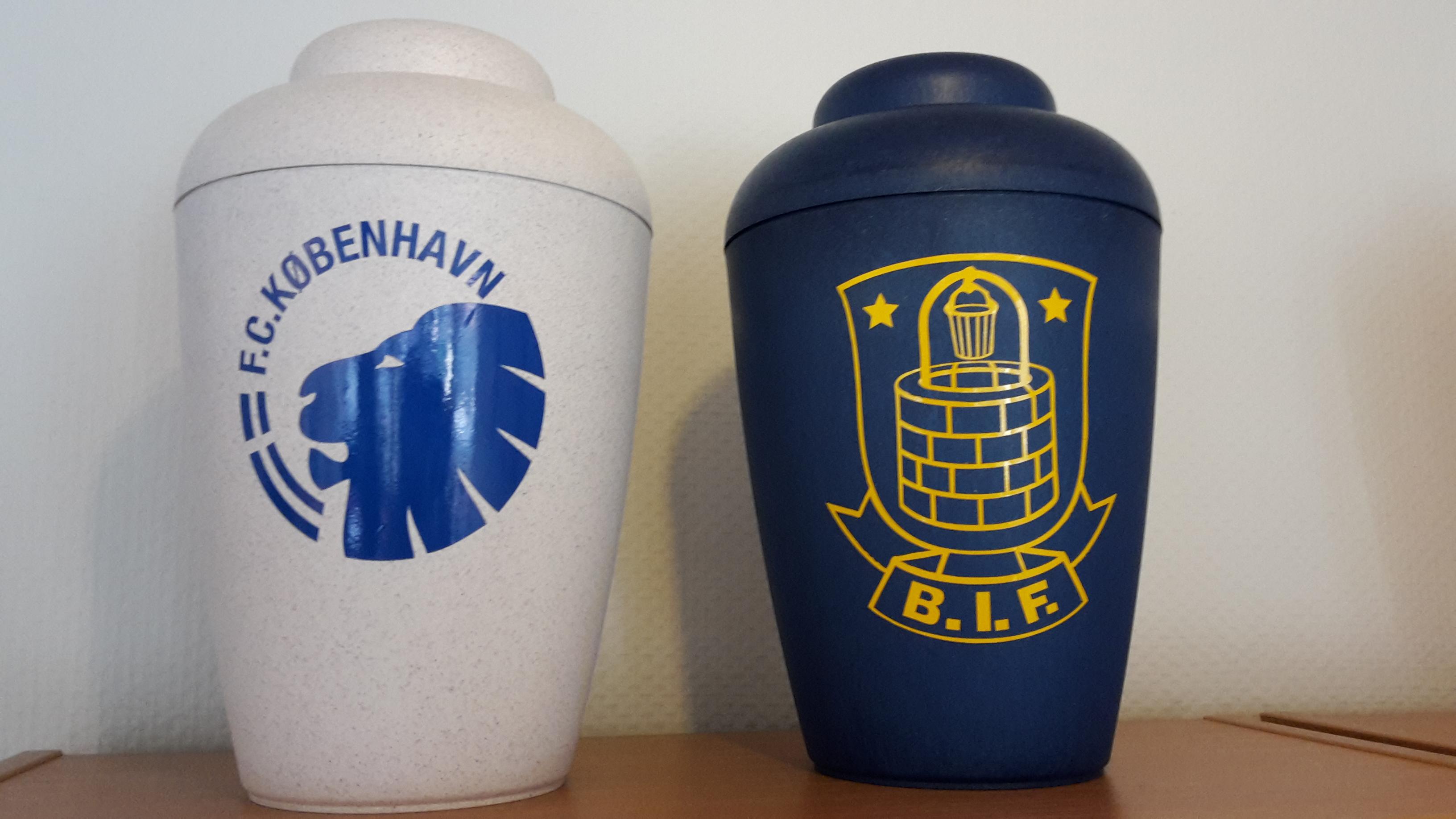 Brøndby og FCK urne